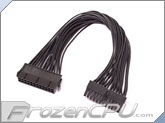 ModRight Black-Out Series 24-Pin ATX 18AWG Extension Cable - 12""