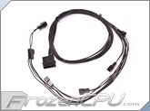 ModRight Black-Out Series 4-Pin to 6x 3-Pin Y Cable Splitter - 24""