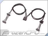 ModRight Black-Out Series 4-Pin Male Molex to 2x2x 4-Pin Female Molex Cable Splitter - 36""