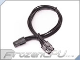 ModRight Black-Out Series 4-Pin EPS to 8-Pin EPS Adapter Cable - 12""