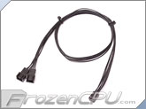ModRight Black-Out Series 3-Pin Y Cable - 24""