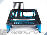 PrimoChill Praxis WetBench - Black w/ Solid Light Blue PMMA Accents (MWB-BK-LB)