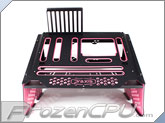 PrimoChill Praxis WetBench - Black w/ Solid Light Pink PMMA Accents (MWB-BK-LPK)
