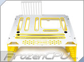 PrimoChill Praxis WetBench - White w/ Solid Yellow PMMA Accents (MWB-W-Y)