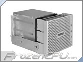 "Lian Li EX-33A1-P Triple 3.5"" Internal HDD Mount Kit w/ Mesh Front & Individual Power Control - Silver"