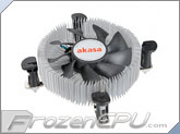 Akasa Low Profile Intel CPU Cooler - Mini-ITX and Micro-ATX (AK-CCE-7106HP) (Sockets 775 / 115x)