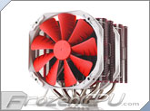 Phanteks PH-TC14PE_RD Twin Tower Dual 140mm Universal CPU Cooler - Red