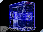 Sunbeam 9-Bay Acrylic Mid-Tower Case - UV Blue - (AC9B-HUV)