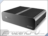 Akasa Euler Fanless Solid Aluminum THIN Mini ITX Case - VESA Mountable (AK-ITX05-BK)
