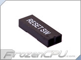 FrozenCPU ConnectRight 2-pin Male / Female Motherboard Power Connector - Black Reset SW
