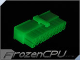 FrozenCPU ConnectRight 20-Pin Female ATX Power Connector - UV Green
