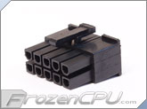 FrozenCPU ConnectRight 10-Pin Male PSU Power Connector - Corsair / Seasonic - Black