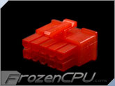 FrozenCPU ConnectRight 10-Pin Male PSU Power Connector - Corsair / Seasonic - UV Red