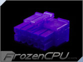 FrozenCPU ConnectRight 10-Pin Male PSU Power Connector - Corsair / Seasonic - UV Purple