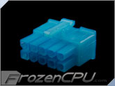 FrozenCPU ConnectRight 10-Pin Male PSU Power Connector - Corsair / Seasonic - UV Aqua Blue