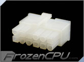 FrozenCPU ConnectRight 12-Pin Male PSU Power Connector - Corsair / Seasonic - Natural