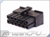 FrozenCPU ConnectRight 12-Pin Male PSU Power Connector - Corsair / Seasonic - Black