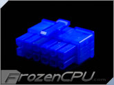 FrozenCPU ConnectRight 12-Pin Male PSU Power Connector - Corsair / Seasonic - UV Blue