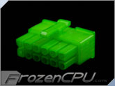 FrozenCPU ConnectRight 12-Pin Male PSU Power Connector - Corsair / Seasonic - UV Green