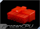 FrozenCPU ConnectRight 12-Pin Male PSU Power Connector - Corsair / Seasonic - UV Red