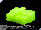FrozenCPU ConnectRight 12-Pin Male PSU Power Connector - Corsair / Seasonic - UV Brite Green