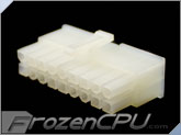 FrozenCPU ConnectRight 18-Pin Male PSU Power Connector - Corsair / Seasonic - Natural