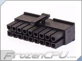 FrozenCPU ConnectRight 18-Pin Male PSU Power Connector - Corsair / Seasonic - Black