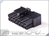FrozenCPU ConnectRight 14-Pin Male PSU Power Connector - Corsair / Seasonic - Black