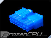 FrozenCPU ConnectRight 14-Pin Male PSU Power Connector - Corsair / Seasonic - UV Blue