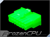 FrozenCPU ConnectRight 14-Pin Male PSU Power Connector - Corsair / Seasonic - UV Green