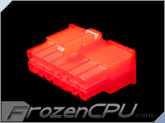 FrozenCPU ConnectRight 14-Pin Male PSU Power Connector - Corsair / Seasonic - UV Red
