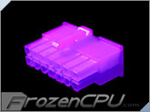 FrozenCPU ConnectRight 14-Pin Male PSU Power Connector - Corsair / Seasonic - UV Purple