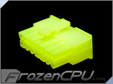 FrozenCPU ConnectRight 14-Pin Male PSU Power Connector - Corsair / Seasonic - UV Brite Green