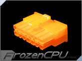 FrozenCPU ConnectRight 14-Pin Male PSU Power Connector - Corsair / Seasonic - UV Brite Orange