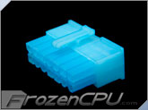 FrozenCPU ConnectRight 14-Pin Male PSU Power Connector - Corsair / Seasonic - UV Aqua Blue