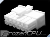 FrozenCPU ConnectRight 12-Pin Male PSU Power Connector - Corsair / Seasonic - True White