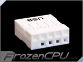 USB 2.0 9-Pin / 10-Pin Female Internal Connector - True White
