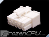 FrozenCPU ConnectRight 10-Pin Male PSU Power Connector - Corsair / Seasonic - True White
