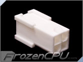 FrozenCPU ConnectRight 4-pin Female 12v Pentium 4 Power Connector - True White