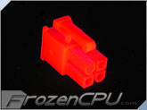 FrozenCPU ConnectRight 4-pin Male 12v Pentium 4 Power Connector - UV Red