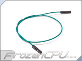 "2.54mm Dupont Motherboard 1-Pin Internal Female Jumper Cable Wire - 11.5"" - Green"