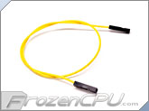 "2.54mm Dupont Motherboard 1-Pin Internal Female Jumper Cable Wire - 11.5"" - Yellow"
