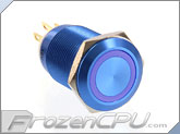 ModMyToys Anodized Illuminated 22mm Latching Switch - Blue / Blue (MMT-SW22LAT-VAN-BLBL)