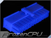 FrozenCPU ConnectRight 24-Pin Female ATX Power Connector - Blue UV