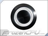 "White Illuminated Vandal Resistant ""Momentary"" Switch - 22mm - Black Housing - Ring Illumination"