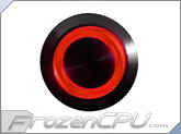 "Red Illuminated Vandal Resistant ""Momentary"" Switch - 16mm - Black Housing - Ring Illumination"