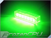 FrozenCPU 7-Spread Lazer LED Light - Green