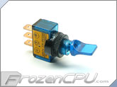 Illuminated Mini Duckbill Toggle Switch 12v. - Blue