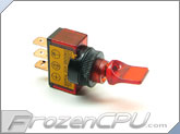 Illuminated Mini Duckbill Toggle Switch 12v. - Red