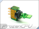 Illuminated Mini Duckbill Toggle Switch 12v. - Green